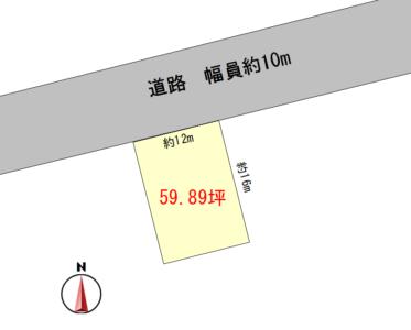 いなべ市大安町中央ヶ丘1丁目 土地(59.9坪) 三里駅まで徒歩14分。小中学校も近く通学も楽々♪